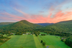 Sunset over Farm Fields and Berkshire Mountains and Pioneer Valley, Charlemont, MA