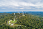 Aerial View of Hoosic Wind Power Project on Crum Hill and Bakke Mountain, Berkshire Mountains, Monroe and Florida, MA