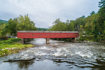 West Cornwall Covered Bridge Spanning Housatonic River, West Cornwall, CT