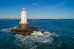 Sakonnet Point Lighthouse, Sakonnet River and Rhode Island Sound, Little Compton, RI