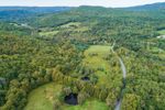 Aerial View of Taconic Trail in Taconic Mountains, Petersburgh, NY