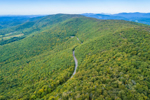 Aerial View of Taconic Trail Winding through Taconic Mountains, Petersburgh, NY