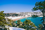 View of Sand Beach in Winter, Acadia National Park, Mt Desert Island, Bar Harbor, ME