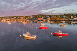 Lobster Boats in Stonington Harbor at Sunrise, Deer Isle, Stonington, ME