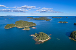 Aerial View of Archipelago off Stonington, Deer Isle, Stonington, ME
