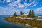 Pumpkin Island Lighthouse, Eggemoggin Reach, Little Deer Isle, ME
