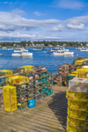 Lobster Traps on Wharf at Thurston's at Bernard Harbor, Village of Bernard, Tremont, ME