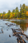 Grindstone Falls on East Branch Penobscot River in Autumn, Katahdin Woods and Waters Scenic Byway, Grindstone Township, ME