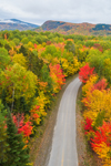 View of Mountains in Baxter State Park and Katahdin Woods and Waters Scenic Byway in Autumn, Penobscot County, T6R8 WELS, ME