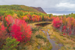 Horse Mountain and Billfish Brook in Fall near Baxter State Park and Katahdin Woods and Waters National Monument, Penobscot County, T6R8 WELS, ME