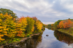 Piscataquis River in Fall from Low's Bridge, Guilford and Sangerville, ME