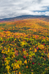 Aerial View of Lily Bay Mountain in Fall, Moosehead Lake Scenic Byway, Moosehead Lake Region, Lily Bay Township, ME