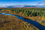 Lazy Tom Stream with Little and Big Spencer Mountains in Distance in Fall, Moosehead Lake Region, Piscataqius County, T1R13, WELS, ME