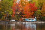 Float Plane at Mooshead Lake in Fall, Moosehead Lake Scenic Byway, Greenville, ME