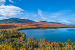 Mountain View Pond and Big Moose Mountain in Fall, Moosehead Lake Scenic Byway, Big Moose Township, ME