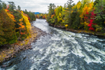 Rapids on East Outlet Kennebec River in Fall, Moosehead Lake Scenic Byway, Village of Moosehead, Sapling and Big Moose Townships, ME