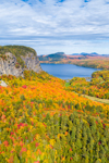Aerial View of Mount Kineo and Moosehead Lake in Fall, Moosehead Lake Scenic Byway, Rockwood, Kineo Township, ME