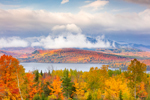 Moosehead Lake and Clearing Skies over Big Moose Mountain in Fall, Moosehead Lake Scenic Byway, Greenville, ME