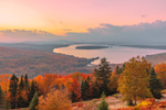 Sunset over Mooselookmeguntic Lake in Fall, View from Height of Land Overlook, Rangeley Lakes National Scenic Byway, Township D, ME
