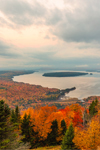 Sunrise over Mooselookmeguntic Lake in Fall, View from Height of Land Overlook, Rangeley Lakes National Scenic Byway, Township D, ME