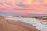 High Surf and Sunset at South Beach, Martha's Vineyard, Edgartown, MA