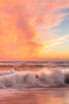 Spectacular Sunset and High Surf at South Beach, Martha's Vineyard, Edgartown, MA