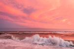 Spectacular Sunset and High Surf at South Beach, Martha's Vineyard, Edgartown, MA