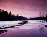 Winter Sunset at Lawrence Brook Marsh