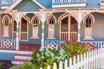 Blue Gingerbread House, Martha's Vineyard Camp Meeting Association, National Register of Historic Places, Martha's Vineyard, Oak Bluffs, MA