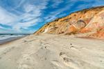 Colorful Clay Cliffs along Moshup Beach near Gay Head, Martha's Vineyard, Aquinnah, MA