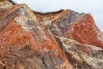 Close-up View of Colored Clay on Cliffs along Moshup Beach, Martha's Vineyard, Aquinnah, MA