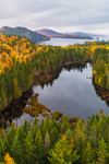 Aerial View of Black Brook Cove and Aziscohos Lake in Fall, Rangeley Lakes Region, Lincoln Plantation, ME