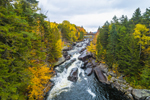 Waterfalls on Magalloway River in Fall, Rangeley Lakes Region, Village of Wilsons Mills, Lincoln Plantation, ME