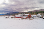 Big Red Barn in Winter, Green Mountains Region, Townshend, VT