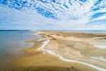 Norton Point, Katama Bay and Atlantic Ocean on Sunny Winter Day, Martha's Vineyard, Edgartown, MA