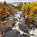 Rapids and Rocks in Magalloway River in Fall, Rangeley Lakes Region, Village of Wilsons Mills, Lincoln Plantation, ME