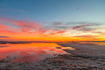 Colorful Sunrise over Marshes at Boardwalk Beach, Cape Cod, Sandwich, MA