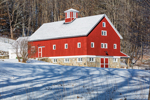 Big Red Barn at Terrace Hill Farm after Snowstorm, Peterborough, NH