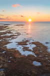 Aerial View of Saltwater Marshes at Lieutenant Island at Sunset, Cape Cod, Wellfleet, MA