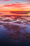 Aerial View of Colorful Sunrise over Marshes at Boardwalk Beach, Cape Cod, Sandwich, MA