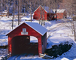 Red Covered Bridge in Winter, Village of Green River