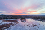Colorful Winter Sunset at Royalston Eagle Reserve, Royalston, MA