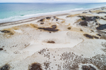 Aerial View of Sand Dunes at Sandy Neck Beach, Cape Cod, Barnstable, MA