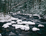 Snow-covered Rocks, Sawmill River