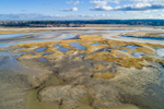 Aerial View of Sand Bars and Saltwater Marshes near Paines Creek, Cape Cod, Brewster, MA