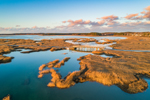 Aerial View of Saltwater Marshes at Lieutenant Island, Cape Cod, Wellfleet, MA