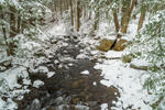Bailey Brook in Winter after Fresh Snowfall, Stoddard, NH