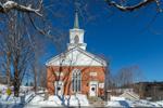Perkinsville Community Church in Winter, Village of Perkinsville, Weathersfield, VT