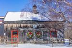 Natural Wood Barn at Meri Mac Farm in Winter, Duchess County, Amenia, NY
