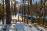 Early Morning Light Shines on Millers River in Winter, Bearsden Conservation Area, Athol, MA
